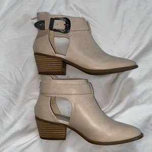 American Eagle Beige Cutout Ankle Booties